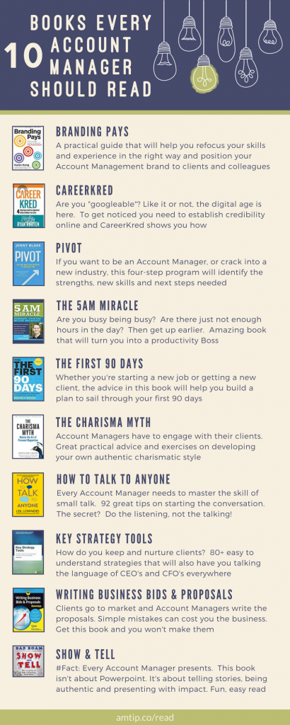 Keeping skills up-to-date is essential for everyone. If you're looking to get into account management, or progress your career, this is a list of they 10 best account management books every Account Manager should read