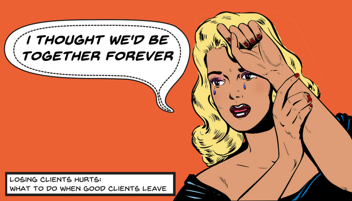 Losing Clients is never fun but if your client leaves, there's ways to get them to reconsider.
