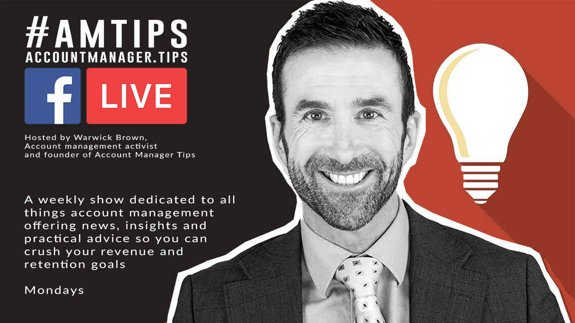 #AMTIPS Live is the weekly facebook live show dedicated to helping account managers everywhere find success, with news, insights and practical advice so you can crush your revenue and retention.